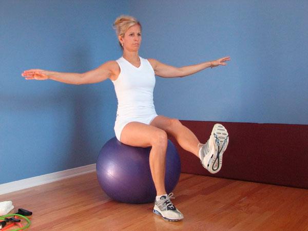 Le ballon d'exercices (initiation)
